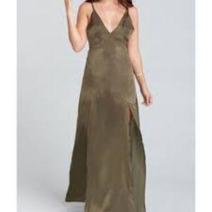 Show Me Your Mumu Starlet Olive Maxi Dress NWT